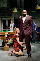THE COMEDY OF ERRORS   by Shakespeare   design: Bunny Christie   lighting: Paule Constable   director: Dominic Cooke ~Claudie Blakley (Adriana), Lenny Henry (Antipholus of Syracuse)~Olivier Theatre /...