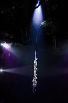 THE HEART OF ROBIN HOOD   by David Farr   set design: Borkur Jonsson   costumes: Emma Ryott   lighting: Bjorn Helgason   director: Gisli Orn Gardarsson   aerial acrobatics rope   garland   lights Ro...