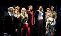 COMPANY   music & lyrics: Stephen Sondheim   design: Christopher Oram   lighting: Neil Austin   director: Jonathan Munby ~front left - l-r: Ian Gelder (Larry), Francesca Annis (Joanne), Claire Price (...