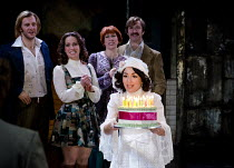 COMPANY   music & lyrics: Stephen Sondheim   design: Christopher Oram   lighting: Neil Austin   director: Jonathan Munby ~front centre: Samantha Spiro (Amy) ~Crucible Theatre / Sheffield, England   05...