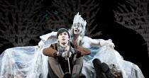 THE SNOW QUEEN   by Hans Christian Andersen   adapted by Charles Way   set design: Su Blackwell   costumes: Mia Flodquist   lighting: Mike Gunning   director: Natascha Metherell ~Zac Fox (Cei), Sara S...