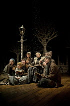 THE SNOW QUEEN   by Hans Christian Andersen   adapted by Charles Way   set design: Su Blackwell   costumes: Mia Flodquist   lighting: Mike Gunning   director: Natascha Metherell ~centre: Deirdre Morri...