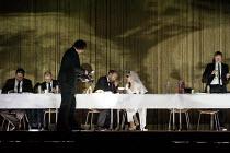 HAMLET   by Shakespeare   German translation by Marius von Mayenburg   set design: Jan Pappelbaum   costumes: Nina Wetzel   lighting: Erich Schneider   director: Thomas Ostermeier   l-r: Sebastian Sc...