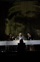 HAMLET   by Shakespeare   German translation by Marius von Mayenburg   set design: Jan Pappelbaum   costumes: Nina Wetzel   lighting: Erich Schneider   director: Thomas Ostermeier   foreground: Hamle...