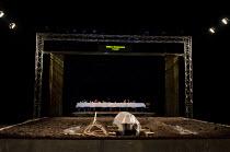 HAMLET   by Shakespeare   German translation by Marius von Mayenburg   set design: Jan Pappelbaum   costumes: Nina Wetzel   lighting: Erich Schneider   director: Thomas Ostermeier   stage   gantry...