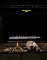 HAMLET   by Shakespeare   German translation by Marius von Mayenburg   set design: Jan Pappelbaum   costumes: Nina Wetzel   lighting: Erich Schneider   director: Thomas Ostermeier   stage   set   gra...