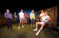 JOKING APART   by Alan Ayckbourn   set design: Holly Best   costumes: Kingsley Hall   lighting: Steve Miller   director: Ben De Wynter ~l-r: Paul Anthoney (Brian), Jamie Richards (Hugh), Andrew Obeney...