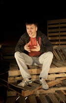 PORT AUTHORITY   by Conor McPherson   design: Francesca Reidy   lighting: Joshua Carr   director: Tom Attenborough ~Andrew Nolan (Kevin) ~Southwark Playhouse, London SE1   27/01/2012