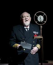 THE KING'S SPEECH   by David Seidler   design: Anthony Ward   lighting: Mark Henderson   director: Adrian Noble   Joss Ackland (King George V) Yvonne Arnaud Theatre, Guildford, Surrey / England   10...