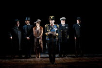 THE KING'S SPEECH   by David Seidler   design: Anthony Ward   lighting: Mark Henderson   director: Adrian Noble   l-r: Ian McNeice (Winston Churchill), Michael Feast (Cosmo Lang, Archbishop of Canter...