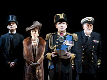 THE KING'S SPEECH   by David Seidler   design: Anthony Ward   lighting: Mark Henderson   director: Adrian Noble   l-r: Michael Feast (Cosmo Lang, Archbishop of Canterbury), Emma Fielding (Queen Eliza...