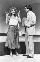 CLOUDS   by Michael Frayn   director: Michael Rudman ~~Felicity Kendal (Mara), Tom Courtenay (Owen) ~Duke of York's Theatre, London WC2   01/11/1978