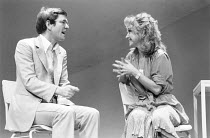 CLOUDS   by Michael Frayn   director: Michael Rudman ~~Tom Courtenay (Owen), Felicity Kendal (Mara) ~Duke of York's Theatre, London WC2   01/11/1978