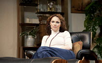 ABSENT FRIENDS   by Alan Ayckbourn   design: Tom Scutt   lighting: Peter Mumford   director: Jeremy Herrin ~~Kara Tointon (Evelyn) ~Harold Pinter Theatre / London SW1   09/02/2012