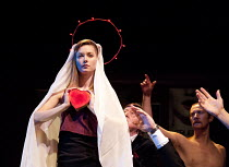 'TIS PITY SHE'S A WHORE   by John Ford   design: Nick Ormerod   lighting: Judith Greenwood   director: Declan Donnellan ~Lydia Wilson (Annabella)~Cheek by Jowl / Silk Street Theatre, Barbican Centre,...