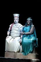AIDA   by Verdi   conductor: Andrew Greenwood   design: Isabella Bywater   lighting: Andrew Bridge   choreographer: Sarah Fahie   director: Stephen Medcalf ~closing moments: Marc Heller (Radames), Ind...