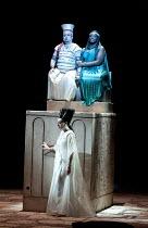 AIDA   by Verdi   conductor: Andrew Greenwood   design: Isabella Bywater   lighting: Andrew Bridge   choreographer: Sarah Fahie   director: Stephen Medcalf ~closing moments - top: Marc Heller (Radames...