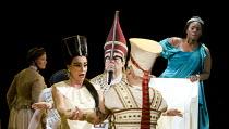 AIDA   by Verdi   conductor: Andrew Greenwood   design: Isabella Bywater   lighting: Andrew Bridge   choreographer: Sarah Fahie   director: Stephen Medcalf ~l-r: Tiziana Carraro (Amneris), Daniel Lewi...