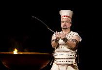 AIDA   by Verdi   conductor: Andrew Greenwood   design: Isabella Bywater   lighting: Andrew Bridge   choreographer: Sarah Fahie   director: Stephen Medcalf ~Marc Heller (Radames) ~Raymond Gubbay & Roy...