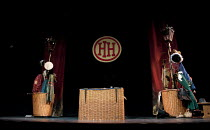 HORRIBLE HISTORIES - BARMY BRITAIN   written by Terry Deary, Neal Foster & Ciaran McConville   design: Jackie Trousdale   lighting: Jason Taylor   director: Neal Foster ~stage   empty   props   basket...