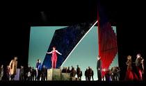 MISS FORTUNE   by Judith Weir   conductor: Paul Daniel   set design: Tom Pye   costumes: Han Feng   lighting: Scott Zielinski   director: Chen Shi-Zheng   front, l-r: Noah Stewart (Hassan), Anne-Mari...