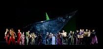 MISS FORTUNE   by Judith Weir   conductor: Paul Daniel   set design: Tom Pye   costumes: Han Feng   lighting: Scott Zielinski   director: Chen Shi-Zheng   opening scene - left: Alan Ewing (Lord Fortu...