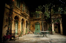 FILUMENA   by Eduardo De Filippo   in a new English version by Tanya Ronder   design: Robert Jones   lighting: Tim Mitchell   director: Michael Attenborough ~stage   set   empty   courtyard   balcony...