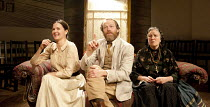 UNCLE VANYA   by Chekhov   in a new version by Mike Poulton   design: William Dudley   lighting: Richard Howell   director: Lucy Bailey   l-r: Charlotte Emmerson (Sonya), Iain Glen (Vanya), Marlene S...