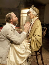 UNCLE VANYA   by Chekhov   in a new version by Mike Poulton   design: William Dudley   lighting: Richard Howell   director: Lucy Bailey ~front: Iain Glen (Vanya), Caroline Blakiston (Maria Vasilyevna)...
