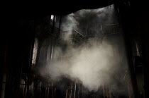 THE DUCHESS OF MALFI  by John Webster  design: Soutra Gilmour  lighting: James Farncombe  movement: Ann Yee  director: Jamie Lloyd   set, smoke, haze Old Vic Theatre, London SE1  28/03/2012  (c) Do...