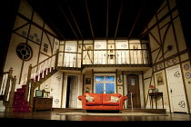 NOISES OFF   by Michael Frayn   design: Peter McKintosh   lighting: Paul Pyant   director: Lindsay Posner ~stage   set   empty~Old Vic Theatre 2011 production / Novello Theatre, London WC2   03/04/201...