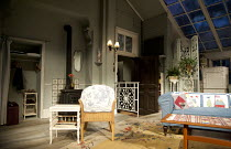 BAREFOOT IN THE PARK   by Neil Simon   design: Tim Goodchild   lighting: Nick Richings   directed by Maureen Lipman & Peter Cregreen ~~stage   set   empty~Yvonne Arnaud Theatre, Guildford, Surrey / En...