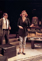 WHO'S AFRAID OF VIRGINIA WOOLF?   by Edward Albee   design: John Napier   lighting: Jenny Kagan   director: Howard Davies ~David Suchet (George), Diana Rigg (Martha)~Almeida Theatre, London N1   11/09...