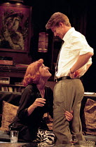 WHO'S AFRAID OF VIRGINIA WOOLF?   by Edward Albee   design: John Napier   lighting: Jenny Kagan   director: Howard Davies ~Diana Rigg (Martha), Lloyd Owen (Nick)~Almeida Theatre, London N1   11/09/199...
