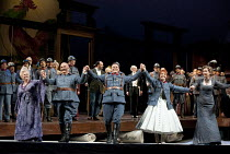 LA FILLE DU REGIMENT   by Donizetti   conductor: Yves Abel   set design: Chantal Thomas   lighting: Joel Adam   costume design & direction: Laurent Pelly   curtain call after dress rehearsal 16/04/20...