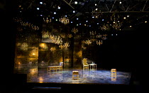 THE WAY OF THE WORLD   by Congreve   design: Paul Farnsworth   lighting: Howard Harrison   director: Rachel Kavanaugh >br>~stage   thrust   set   light   chandelier   reflection~Chichester Festival Th...