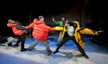 THE CONQUEST OF THE SOUTH POLE   by Manfred Karge   design: Hayden Griffin   lighting: Sherry Coenen   director: Stephen Unwin   l-r: Chris Ashby (Frankieboy), O-T Fagbenle (Slupianek), Mark Field (B...