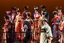 MADAM BUTTERFLY by Puccini   conductor: Oleg Caetani   set design: Michael Levine   costumes: Han Feng   puppetry: Blind Summit Theatre   lighting: Peter Mumford   original director: Anthony Minghella...
