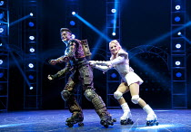 STARLIGHT EXPRESS   music: Andrew Lloyd Webber   lyrics: Richard Stilgoe   design: John Napier   lighting: Nick Richings   direction & choreography: Arlene Phillips ~~Kristofer Harding (Rusty), Amanda...