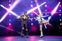 STARLIGHT EXPRESS   music: Andrew Lloyd Webber   lyrics: Richard Stilgoe   design: John Napier   lighting: Nick Richings   direction & choreography: Arlene Phillips ~~Kristofer Harding (Rusty), Ruthie...
