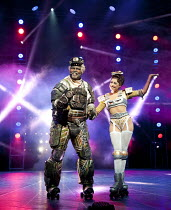 STARLIGHT EXPRESS   music: Andrew Lloyd Webber   lyrics: Richard Stilgoe   design: John Napier   lighting: Nick Richings   direction & choreography: Arlene Phillips ~~Lothair Eaton (Poppa), Camilla Ha...
