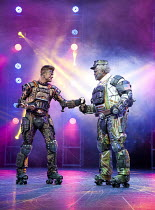 STARLIGHT EXPRESS   music: Andrew Lloyd Webber   lyrics: Richard Stilgoe   design: John Napier   lighting: Nick Richings   direction & choreography: Arlene Phillips ~~l-r: Kristofer Harding (Rusty), L...