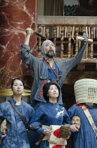 CORIOLANUS   by Shakespeare   costumes: Kyoko Domoto   director: Motoi Miura ~rear, top: Dai Ishida (Coriolanus)   front, l-r (Chorus): Saki Kohno, Satoko Abe, Yohei Kobayashi~Chiten Theatre Company,...