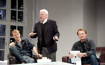 6 ACTORS IN SEARCH OF A DIRECTOR   written & directed by Steven Berkoff   design: Nigel Hook   lighting: Mike Robertson ~l-r: Paul Trussell (Alan), Philip Voss (Charles), Neil Stuke (Brian)~Charing Cr...