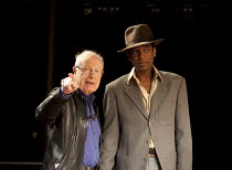 l-r: Peter Brook, William Nadylam rehearsing THE SUIT at The Young Vic, London SE1  23/05/2012  after Can Themba, Mothobi Mutloatse & Barney Simon  adapted & directed by Peter Brook & Marie-Helene Es...