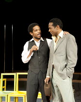 l-r: Jared McNeill, William Nadylam in THE SUIT at The Young Vic, London SE1  23/05/2012  after Can Themba, Mothobi Mutloatse & Barney Simon  adapted & directed by Peter Brook & Marie-Helene Estienne...