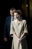ANTIGONE   by Sophocles   in a version by Don Taylor   design: Soutra Gilmour   lighting: Mark Henderson   director: Polly Findlay ~Christopher Eccleston (Creon), Jodie Whittaker (Antigone)~Olivier Th...