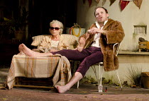 THE LAST OF THE HAUSSMANS   by Stephen Beresford    design: Vicki Mortimer   lighting: Mark Henderson   director: Howard Davies ~Julie Walters (Judy), Rory Kinnear (Nick) ~Lyttelton Theatre / National...