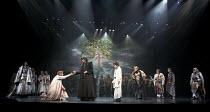 CYMBELINE   by Shakespeare   set design: Tsukasa Nakagoshi   costumes: Nobuko Miyamoto   lighting: Jiro Katsushiba   director: Yukio Ninagawa ~front, l-r: Tomomi Maruyama (Lucius), Yosuke Kubozuka (Ia...