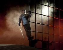 GOTTERDAMMERUNG  by Wagner   conductor: Anthony Negus   design: Kjell Torriset   lighting: Ben Ormerod   director: Alan Privett   Siegfried arrives for Brunnhilde disguised as Gunther: Mati Turi (Sie...